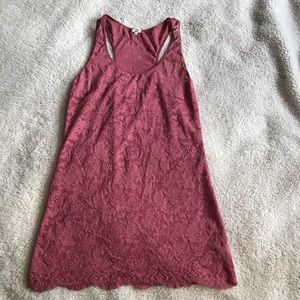 WILFRED Aritzia Madeline style lace tank scalloped
